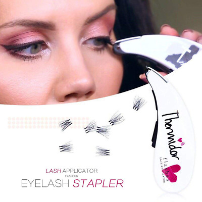 PORTABLE & LIGHTWEIGHT Eyelash Stapler with 45 Fake Eye Lash Buds - Lashes Tool
