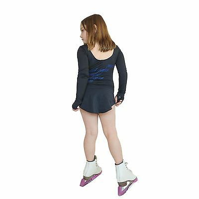 Ice Figure Skating Dress Practice no Pants Trousers VCD39 Triple Twist blue pink