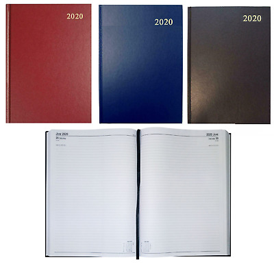 2019 Diary A4 Two 2 Full Pages Per Day Inc Saturday Sunday Hardback Desk Diary