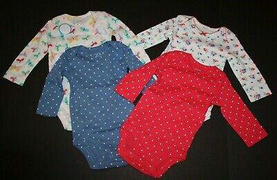 New Carter's Girls 4 Pack Butterfly Floral Bodysuits NWT NB 3 6 9m 12m 18m 24m