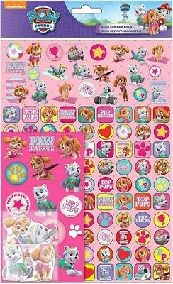 Paw Patrol Pink Skye Mega Sticker Pack Over 150 Stickers