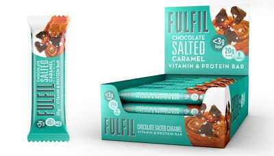 15 X FULFIL Chocolate Salted Caramel Vitamin & Protein Bars!Great Taste & Value!