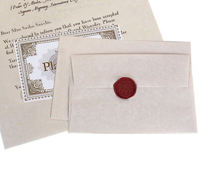 Hogwarts Wizarding School Acceptance Letter Package    Fully Customized