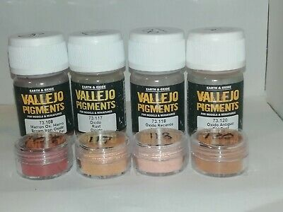 Vallejo Pigments acrylic paint pigment Rust and Corrosion set  5ml tubs 73.194