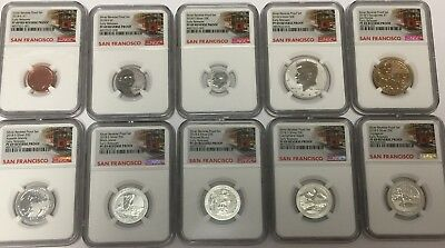 2018-S NGC PF69 REVERSE SILVER PROOF SET 10 Coin Set PF 69 EARLY RELEASES-LIVE