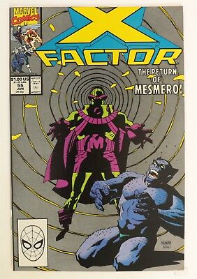 ESZ8072 X-FACTOR #55 Marvel Comics 8.0 VF (1990) Copper Age Mesmero Returns (AT)
