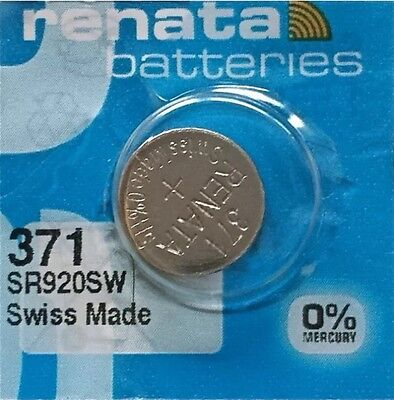"""""""NEW"""" One 371 RENATA SR920SW D370 Watch Battery Free Shipping Authorized Seller"""