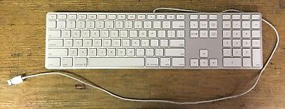 Apple White Aluminum USB Ultra Thin Wired Keyboard iMAC G4 G5 eMAC A1243 TESTED