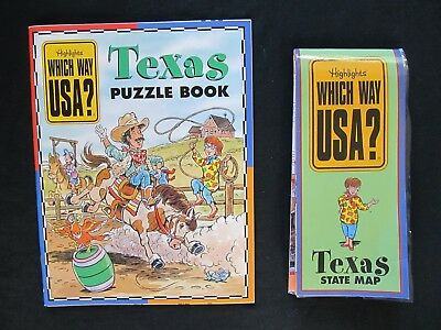 HIGHLIGHTS WHICH WAY USA Puzzle Books Maps NEW State BKCALIFORNIA - Texas map puzzle