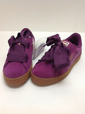 562ed95d066c Puma Suede Heart Pink Purple Girls Bow SNK PS 364919 01 size 1c