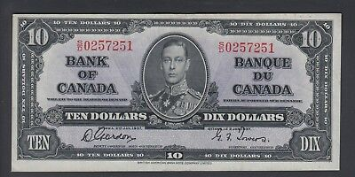 1937  $10 Dollars - Gordon Towers - Prefix S/D - Bank of Canada - E870