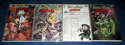 RICK AND MORTY vs DUNGEONS & DRAGONS #1 1:25 1:10 A/B variant set 1st print IDW