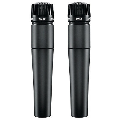 Shure SM57-LC Cardioid Dynamic Microphone 2-pack