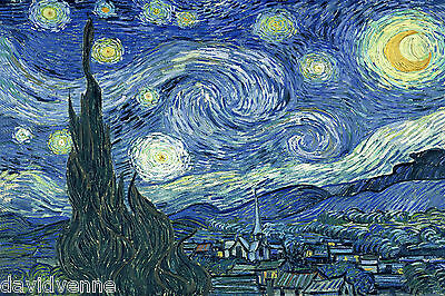Van Gogh Canvas Giclee ACEO Print - Starry Night