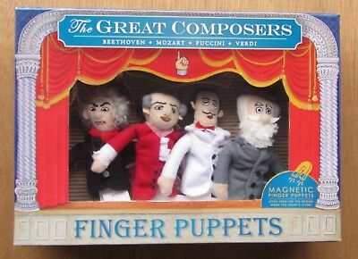 Fingerpuppen The Great Composers - Beethoven, Mozart, Puccini, Verdi