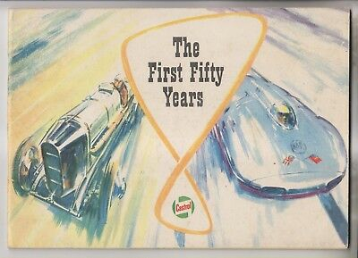 1959 Booklet - The First Fifty Years - Castrol Motor Oil - 1909 - 1959