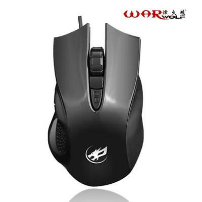 Gaming Mouse Wired USB 4 Buttons 1600DPI High Precision Optical Gamer Mouse For