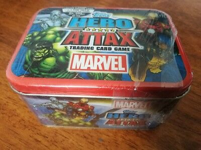 Topps Marvel Hero Attax Including Tin Brand New Sealed