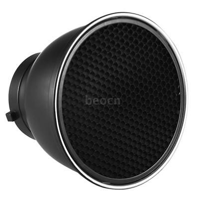 """7""""Standard Lamp Shade Reflector Diffuser W/ 60° Honeycomb Grid for Bowens Mount"""