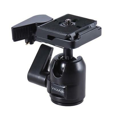 360° Panoramic Video Tripod Ball Head Ballhead with Quick Release QR Plate Clamp