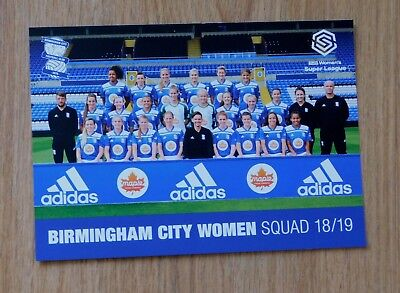 Birmingham City Women 2018/19 Squad Picture