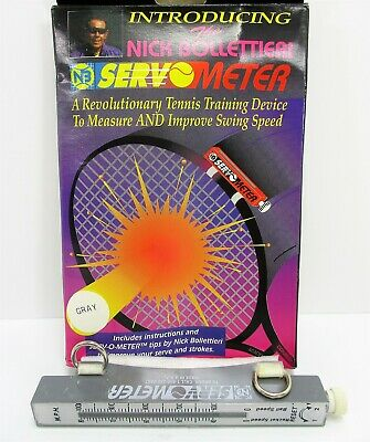 Nick Bollettieri Servo-Meter Measure & Improve Serving Speed Tennis Training