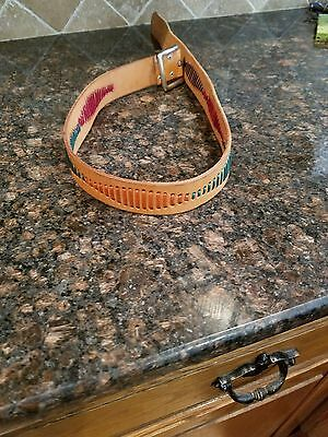 Milor Genuine Leather Vintage Multi Colored Belt --- M