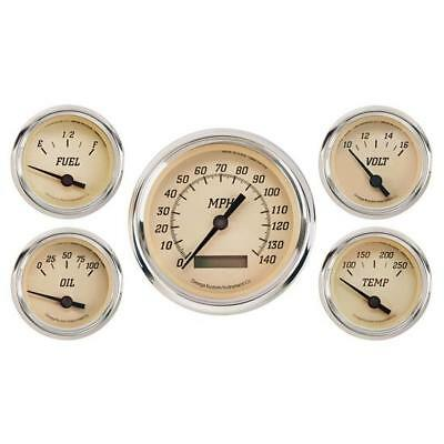 Mechanical Gauge Set Classic Gold 5 Gauge Veethree Instruments CYBCE5717