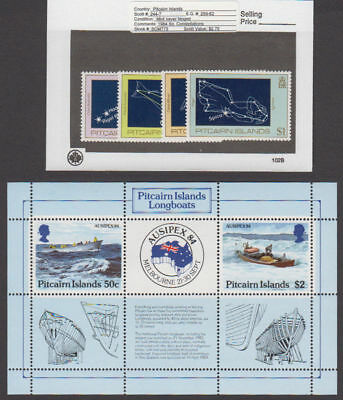 Pitcairn Is. - 1984 Commemorative Set & S/S. Sc. #244-8. SG #259-263. Mint NH