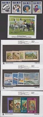 Pitcairn Is. - 1985 Commemorative Sets & S/S. Sc. #249-65. SG #264-80. Mint NH