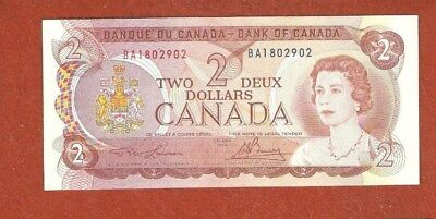 1974 Two Dollar Bank Note Gem Uncirculated Nice Crisp Bank Note E52