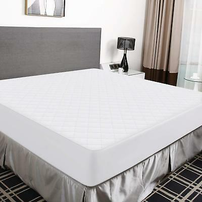 Waterproof Mattress Protector Bed Sheet Pad Bamboo Fabric Surface Cover Topper