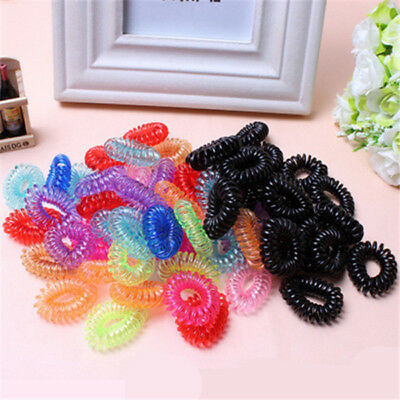 10pcs Rubber Telephone lines Hair ring Elastic Rubber band For Girl P1
