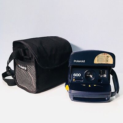 POLAROID 600 One Step Express Blue With Polaroid Camera Bag