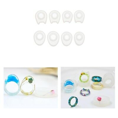 4 Size Silicone Ring Mold Making Resin Casting Jewelry Rings DIY Mould Tools