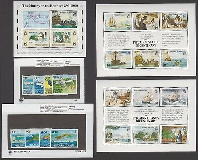 Pitcairn Is. - 1989 Commemorative Sets & S/S. Sc. #320-130. SG #335-352. Mint NH