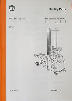 Original Spare Parts Book BT LSF1250/11 Ser.nr 277234