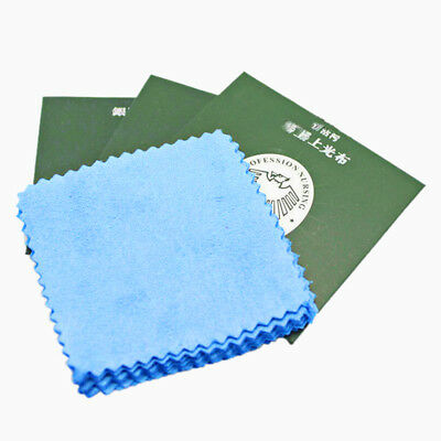 10xSilver Polishing Cloth Cleaner Jewelery Cleaning Cloth Anti-Tarnish Tools HH