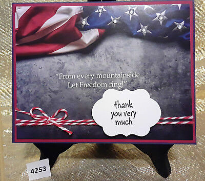 Handmade Card Thank You For Your Service Military Let Freedom Ring