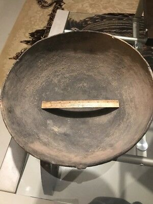 MLC s1406 RARE + HUGE SOLID Old Mississippian Pottery Artifact Great Example