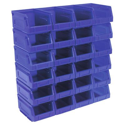Sealey TPS224B Plastic Storage Bin 105 x 165 x 83mm - Blue Pack of 24