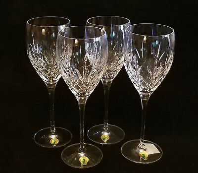 The Plaza Waterford Crystal Set of Four 14oz Wine Glasses Goblets