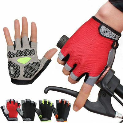 Cycling Bicycle Half Finger Gloves Road Bike MTB Anti Skid Silicone Gel Padded