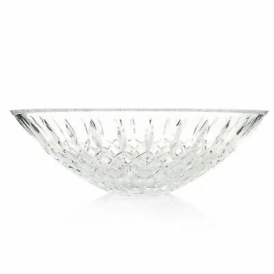 """Waterford Crystal Beverly 13"""" Diamond & Wedge Cut Flared Bowl"""