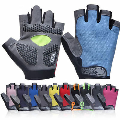 Gym Fitness Half Finger Gloves Training Work Out Anti Skid Silicone Gel Padded