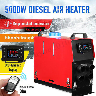 All In One 12V 5KW 5000W LCD Air Diesel Heater Chauffage Voiture Télécommande