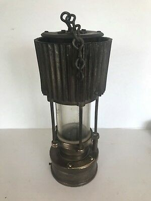 Rare Patterson Safety Miner'S Lamp Type Hcp Safety Light / Tilley Optimus