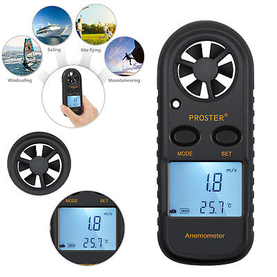 Digital LCD Anemometer Handheld Thermomoter Wind Speed Meter For Surfing Sailing