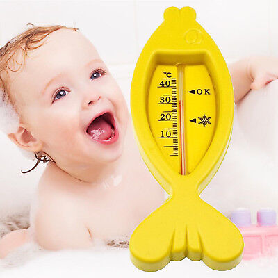Plastic Cute Floating Fish Shape Baby Bath Tub Water Sensor Thermometer Toy Gift