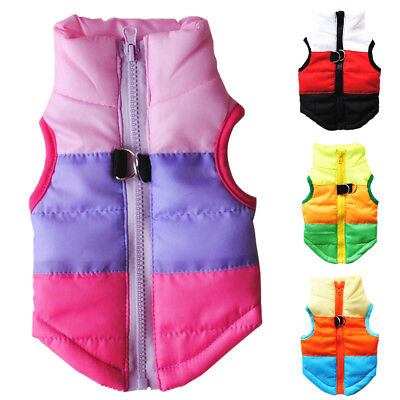 Dog Jacket Waterproof Winter Warm Coat Pet Clothes Puppy Vest Padded Costume